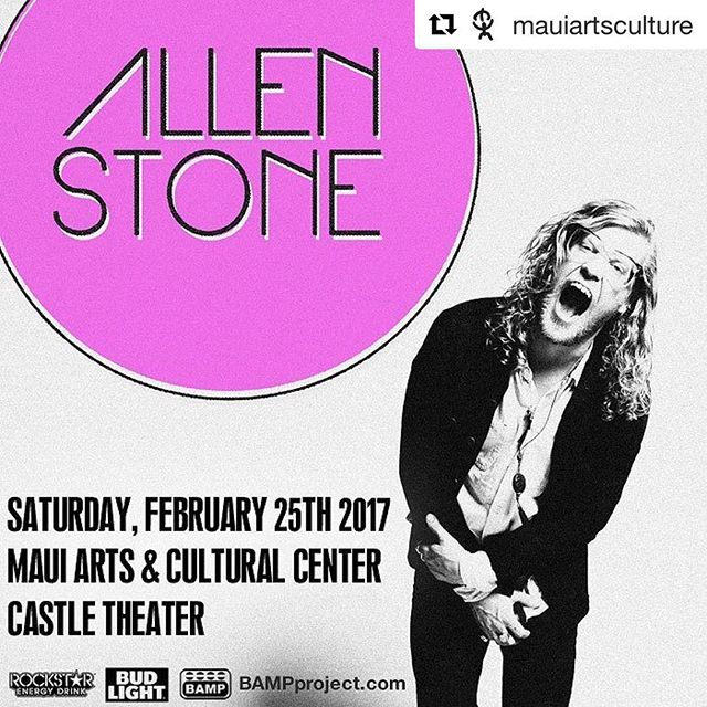 #Repost @mauiartsculture #BAMPProject presents @allenstone 2/25/17 @mauiartsculture. Tickets on sale at mauiarts.org or 242-SHOW. mauiarts.org#concert #maui #hawaii #maccmaui #music AllenStone #AllenStoneHawaii @bampproject - from Instagram