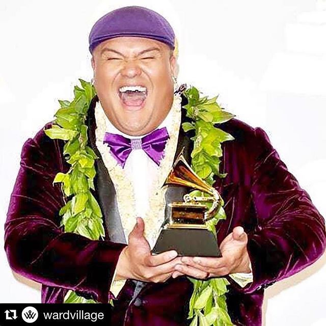 #Repost @wardvillageWe're as stoked as @kalanipeamusic is in this photo when he won a #Grammy, because he's playing LIVE at Kona Nui Nights this Wednesday! PLUS, admission is free. RSVP through the link in bio. #WeAreWard - from Instagram
