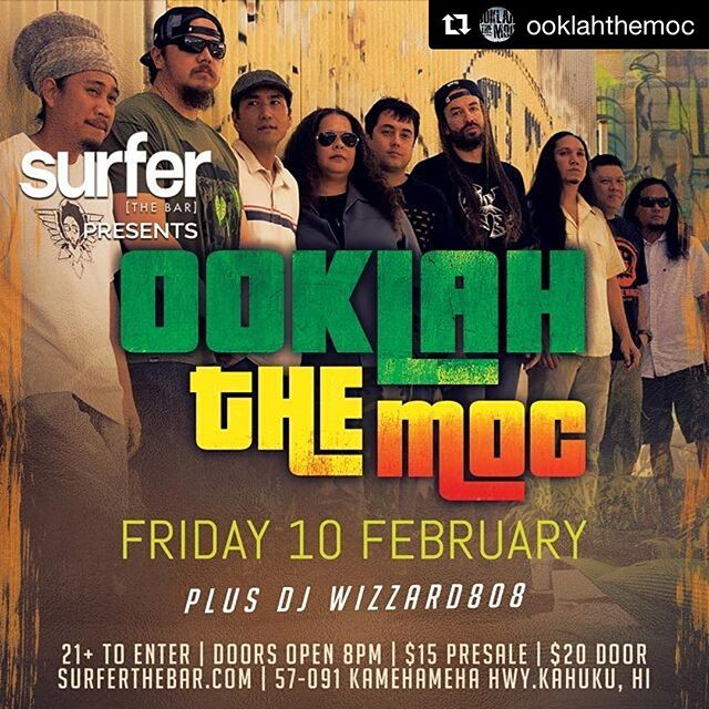 #Repost @ooklahthemoc See you up north this Friday, Oahu! Continuing to celebrate the King of reggae's birthday! - from Instagram