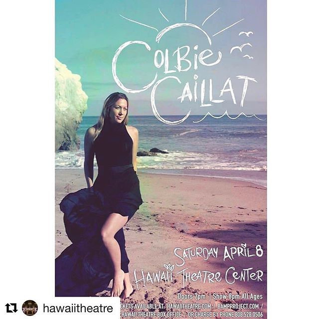 "#Repost @hawaiitheatreFrom @bampproject - SHOW ANNOUNCEMENT!#BAMPProject presents@ColbieCaillatSaturday, April 8th@HawaiiTheatre••••••TICKETS ON SALE TO THE GENERAL PUBLIC FRIDAY AT 9AM:BampProject.com / HawaiiTheatre.com / Hawaii Theatre Box Office / Charge by phone at 808.528.0506. ••••••Subscribe to the #BAMPBlast by the end of the day TODAY, Monday, February 13th for an exclusive Pre-Sale Offer.  Go to BampProject.com & scroll to the bottom of the page, select ""Oahu"" and ""Singer-Songwriter"" and other types of events you are interested in.••••••WANT TO WIN A TICKET TO THE SHOW!?1. Follow Us2. Double Tap this Post3. Tag 5 friends you want you want to go with in the comments section below4. Repost this Photo and Tag @BampProject @HawaiiTheatre @ColbieCaillat& hashtag it #ColbieCaillatHi5. Set your Privacy Settings to ""Public"" so we can see you.••••••Winner will be announced Monday. Like us on Facebook.com/BampProject for even more ways to win. - from Instagram"